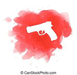 Crime scene of cold blood murder