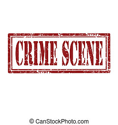 Crime Scene-stamp - Grunge rubber stamp with text Crime...