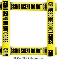Crime scene tape frame