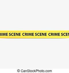 crime scene tape - vector image of a yellow crime scene tape
