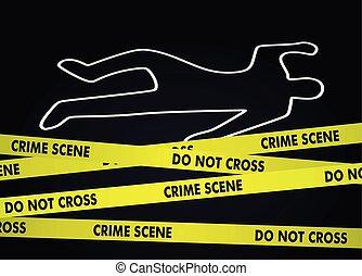 Crime scene. vector illustration