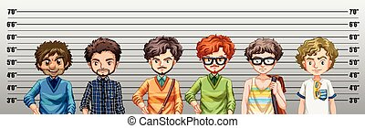 crime, sendo, suspeitado, homens