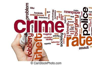 crime, taxa, palavra, nuvem