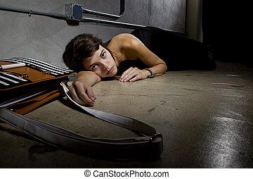 Crime Victim on the Street Floor