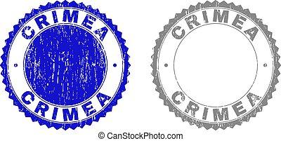 crimea, スタンプ, グランジ, textured