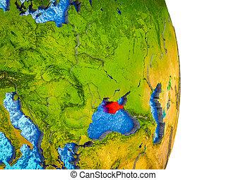 crimea, kaart, 3d, aarde