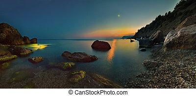 Crimea Sea colorful sunrise