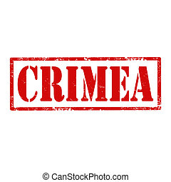 Grunge rubber stamp with text Crimea, vector illustration