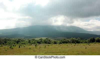 Crimean mountain landscape.