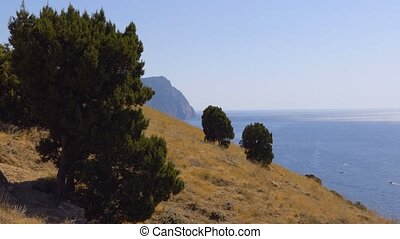 Crimean mountains - Coastal mountains on a summer day....