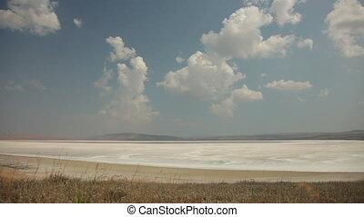 Crimean Salty Lake, Time lapse.