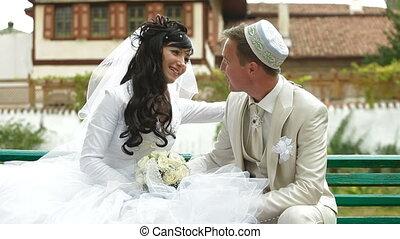 Crimean Tatar newlyweds