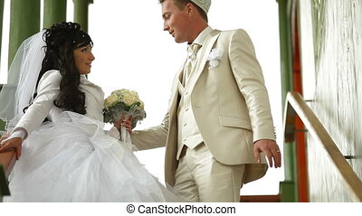 Crimean Tatar newlyweds - Young Crimean Tatar couple on the...