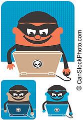 crimen, computadora