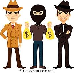 crimen, profesión, gente