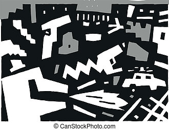 criminal - abstract vector background