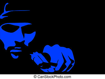 Abstract vector of a criminal