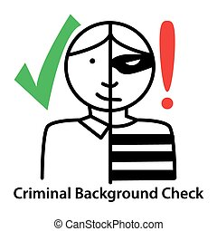 Criminal Background Check - An image of a criminal...