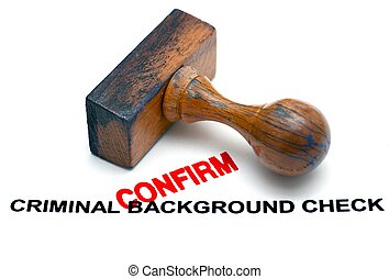 Criminal background form - confirm