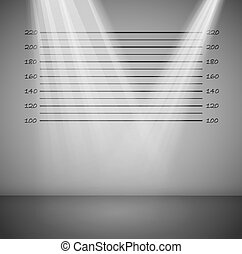 Criminal background with lines and rays of light