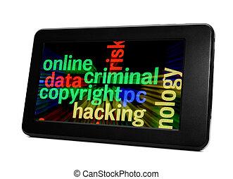 criminal, conceito, online
