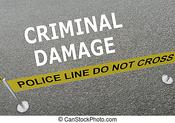 Criminal Damage concept