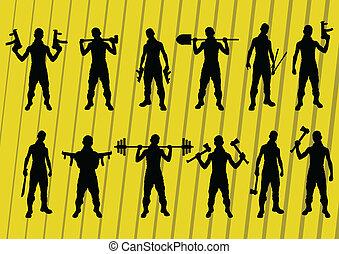 Criminal danger vector background people