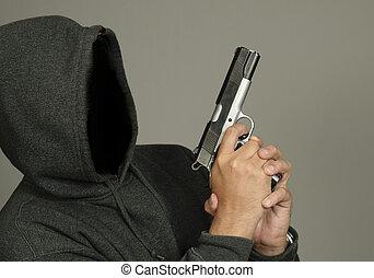 Criminal Hold Gun