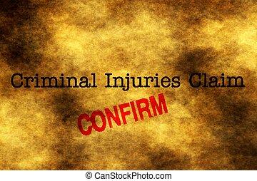 Criminal injury claim