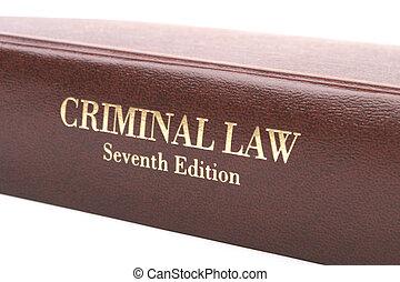 criminal, libro, ley