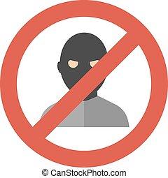 Criminal man vector illustration.