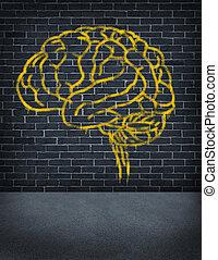 Criminal Mind - Criminal mind with a sprayed graffiti...