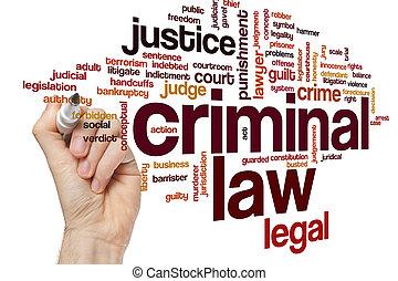 criminal, palavra, nuvem, lei