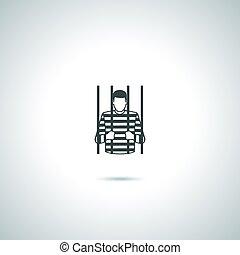 Criminal prisoner icon