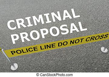 Criminal Proposal concept