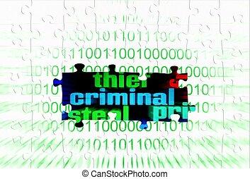 Criminal puzzle concept