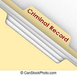 Criminal Record Manila Folder Crime Data Arrest File -...
