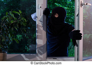 Criminal robs the house - Evil criminal robs the house at...