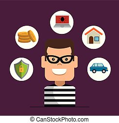 House Thief Security Protection Insurance