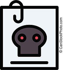 criminal vector colour line  icon
