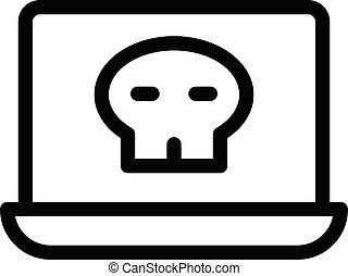 criminal vector thin line  icon