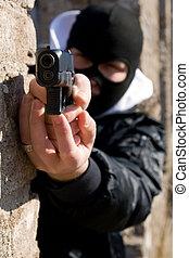 Criminal with a gun