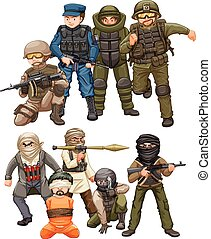 Criminals and SWAT team