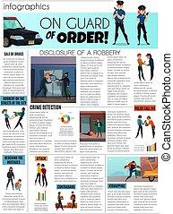 Criminals Infographic Set