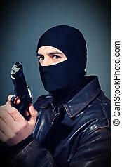 crimineel, geweer