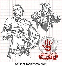 crimineel, hooligans, -, nachtleven, bandieten