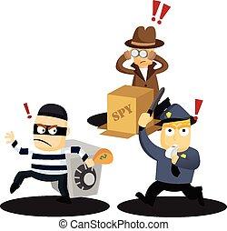crimineel, werken