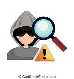 criminel, avatar, pirate informatique