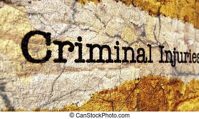 criminel, blessure, réclamation