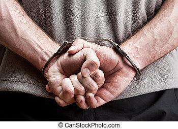 criminel, menottes